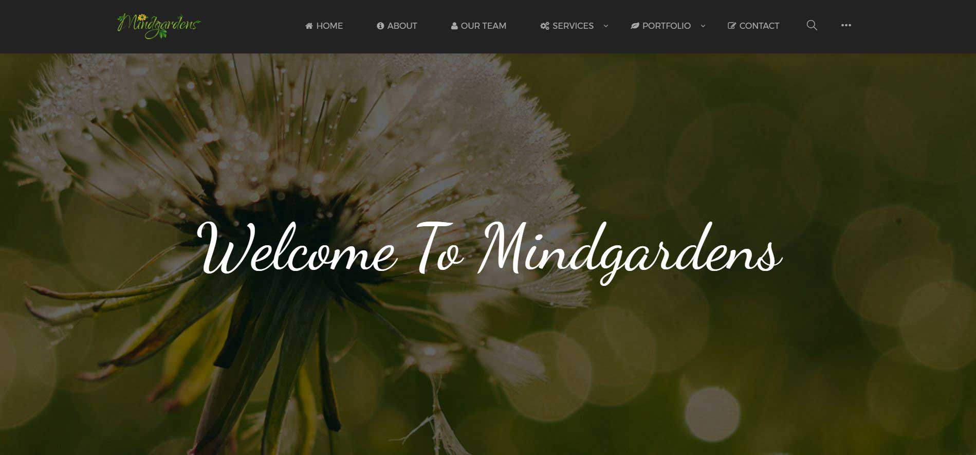 Mindgardens Creative Services Site Design