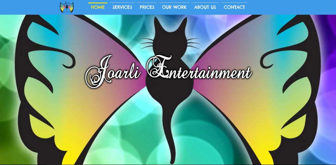 Joarli Entertainment Site Design