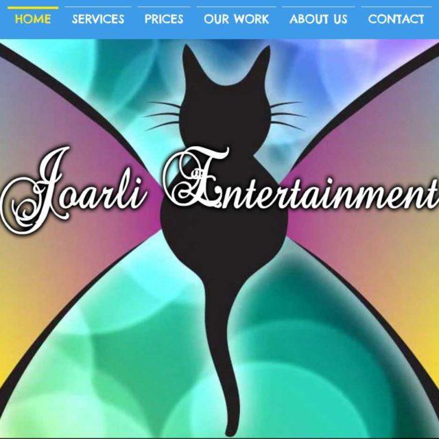 Joarli Entertainment Site Design